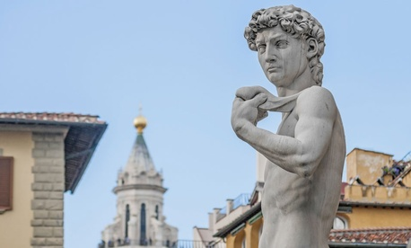 Michelangelo -- sculptor of the famed David -- is cited a creative genius left-hander.