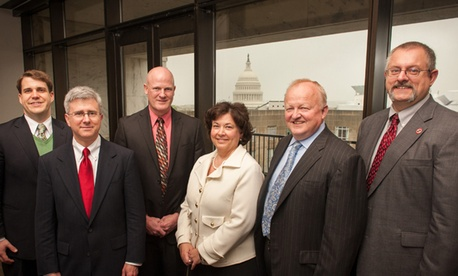 The 2013 Samuel J. Heyman Service to America Medal finalists for the citizen services category include from left: Michael Craig and Todd Weber, Dave Broomell, Martha Dorris, Terence Milholland and Daniel Madrzykowski.