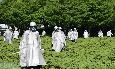The Korean War Memorial is located in Washington, DC.