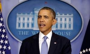 President Barack Obama speaks regarding the ongoing budget fight in Congress.