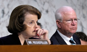 Senate Intelligence Committee Chairwoman Sen. Dianne Feinstein, D-Calif., left, and the committee ranking member Sen. Saxby Chambliss, R-Ga.