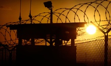 The sun rises above Camp Delta at Guantanamo Bay Naval Base, Cuba.