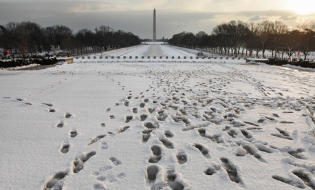 Snow blanketed the Washington area in 2011.