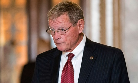 """There is not the time to go through a process where you are going to have amendments,"" Sen. James Inhofe, R-Okla.,  said. ""That is behind us."""
