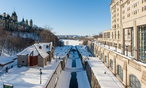 Canada's capital city Ottawa gets heavy snow for much of the winter.