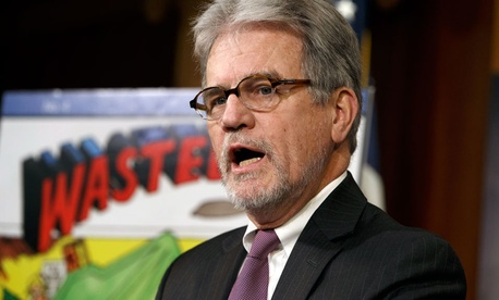"Sen. Tom Coburn, R-Okla., a longtime deficit hawk, outlines his annual ""Wastebook."""