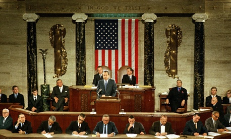 Richard M. Nixon gave the 1971 State of the Union speech on Jan. 22.