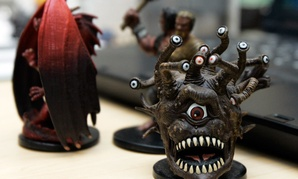 Miniature figures used in the Dungeons and Dragons roleplaying game.
