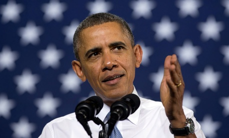 President Barack Obama speaks at General Electric's Waukesha Gas Engines facility, Thursday, Jan. 30, 2014.