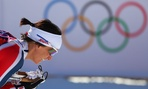 Norway's Marit Bjoergen competes in a skiing competition in Sochi on Feb. 8.
