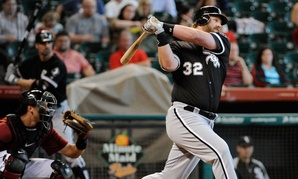Seen here striking out in 2012, Adam Dunn of the Chicago White Sox ranks first in career strikeouts and third in home runs among active players.