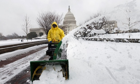 The Washington area has experienced more snow than usual this winter.