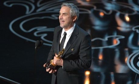 Director Alfonso Cuarón won for directing Gravity's story of NASA astronauts caught in space.