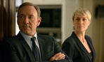 "Kevin Spacey as Francis Underwood, left, and Robin Wright as Clair Underwood in a scene from ""House of Cards."""