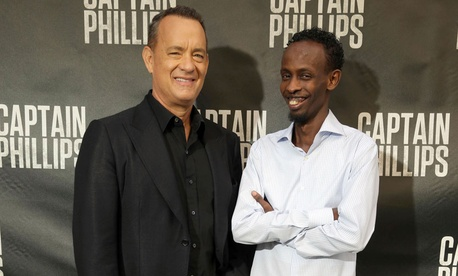 Tom Hanks and Barkhad Abdi starred in the film Captain Phillips.