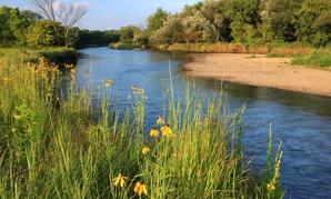 The Kishwaukee River flows through western Illinois.