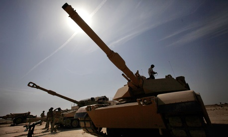 Iraqi Army M1A1 Abrams tanks, purchased from the U.S.