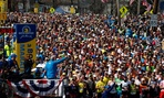 Runners wait to start the 118th Boston Marathon Monday, April 21, 2014 in Hopkinton, Mass.