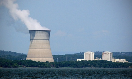 Arkansas Nuclear One and Two power plants generate electricity near London, Ark.