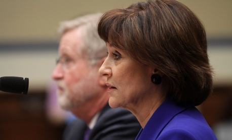 Lois Lerner was on the Hill in March to testify.