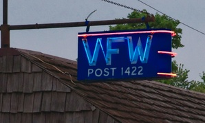 The VFW hall in Bushnell, Illinois.