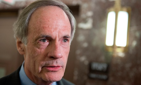 "Sen. Thomas Carper, D-Del., said the idea ""kicks the can down the road yet again on resolving two issues—fixing the Postal Service and the trust fund."""