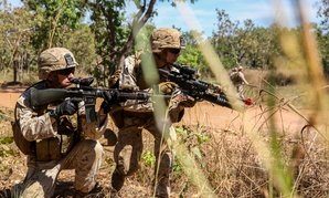Marines participate in a training competition in Australia last week.
