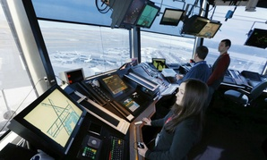 Air Traffic Controllers at Logan International Airport in Boston,