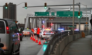 NYPD conducts 'dirty bomb' drill on the Third Avenue bridge in 2011.