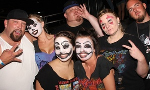 Juggalos at an ICP show in 2011 pose for the camera.