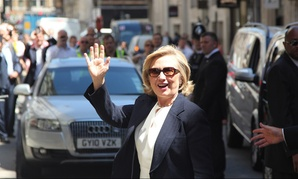Clinton traveled to London for a book event on July 3.