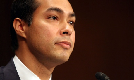 Housing and Urban Development Secretary nominee, San Antonio, Texas Mayor Julian Castro testifies on Capitol Hill.