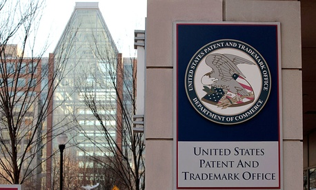 The U.S. Patent and Trademark Office is seen in Alexandria, Va.