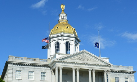 The New Hampshire State House in Concord.