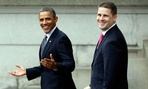 President Barack Obama, and senior adviser Dan Pfeiffer