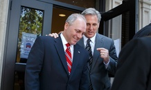 As of Aug. 1, Kevin McCarthy, right, is the majority leader and Steve Scalise is the new majority whip.
