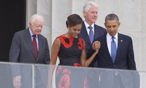 Jimmy Carter, Bill Clinton and the Obamas commemorated the 50th anniversary of the March on Washington in August.