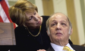James Brady with his wife, Sarah, on the 30th anniversary of the assassination attempt.