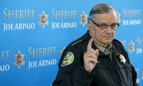 Maricopa County Sheriff Joe Arpaio speaks to the press on Dec. 13, 2013.