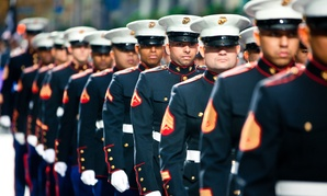 Marines Marching during the 2011 New York City Veterans Day Parade