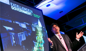 Former U.S. CTO Aneesh Chopra speaking at EIG 2014