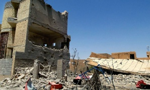 Damage to homes in Tikrit due to clashes between ISIL and Iraqi security forces.