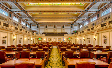 The Oklahoma House of Representatives chamber.