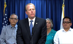 San Diego Mayor Kevin Faulconer announces his veto earlier this month.