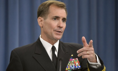 "Pentagon spokesman Rear Adm. John Kirby says the department is ""constantly assessing"" how it handles arms sales to Israel."