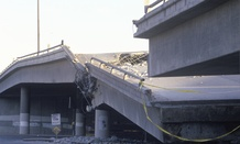 A Northridge, Calif., bridge collapsed after a 1994 earthquake.
