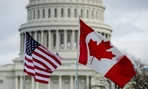 US and Canadian flags at the US Capitol