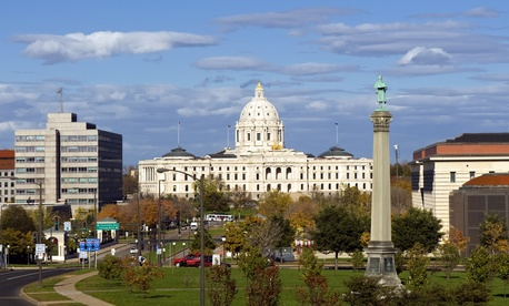 The Minnesota State Capitol in Saint Paul.