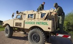 Border Patrol Agents conduct an equipment check on the South Texas border.