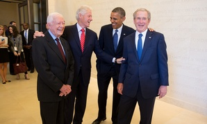 Four of the five living presidents will wish AmeriCorps a happy birthday.